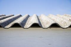 Крыша азбеста стоковое изображение rf