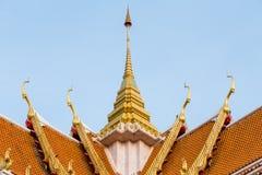 Крыша буддийского виска Стоковое фото RF