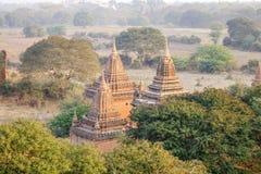Крыша виска в Bagan, Мьянме Стоковые Изображения RF