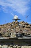 Крыша в Сан Paio de Abeleda, Оренсе стоковое фото