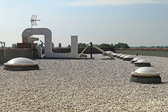 Крыша гравия плоская Стоковое фото RF