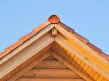 крыша деревянная Стоковое Изображение