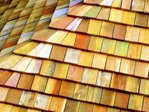 крыша деревянная Стоковое Изображение RF