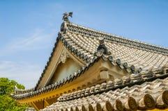 Крыша замка Himeji Стоковая Фотография