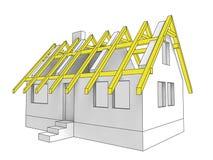 Крыша здания иконы диаграммы дома Стоковое Фото