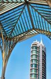 крыша здания под взглядом Стоковые Фото