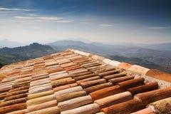 крыша Италии кирпича среднеземноморская Стоковая Фотография RF