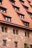 Крыша и окна детали дома Стоковая Фотография