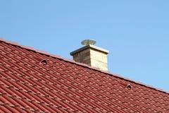 Крыша и печная труба Стоковое Изображение