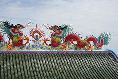 крыша Китайск-стиля Стоковое Изображение