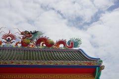 крыша Китайск-стиля Стоковое Изображение RF
