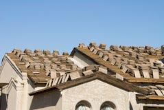крыша конструкции домашняя новая Стоковое фото RF