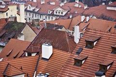 крыша красного цвета зданий Стоковое Изображение