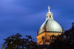 Крыша куполка федерального административного суда, Лейпцига Стоковое Изображение