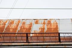 Крыша металла ржавая стоковые фото