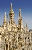 крыша милана madonnina собора Стоковые Фото