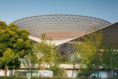 Крыша мола реки (ось экспо) стоковые фото