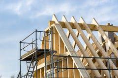 Крыша нового дома - строительная площадка стоковая фотография