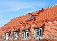 Крыша нового здания стоковые изображения rf