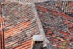 Крыша дома в Kotor Стоковое Изображение RF
