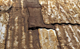 Крыша олова Grunge стоковое фото rf