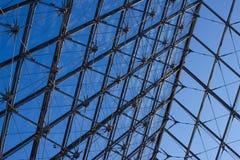 Крыша пирамиды входа жалюзи, Париж, Франция Стоковые Изображения