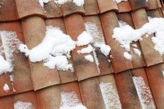 Крыша плитки красного цвета Стоковые Изображения