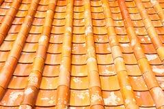Крыша плитки виска в Таиланде Стоковая Фотография
