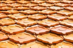 Крыша плитки виска в Таиланде Стоковое Фото