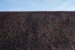 Крыша плитки от Viscri, Трансильвании Стоковая Фотография