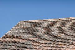 Крыша плитки от Viscri, Трансильвании Стоковое фото RF