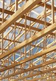 крыша рамки деревянная Стоковые Изображения