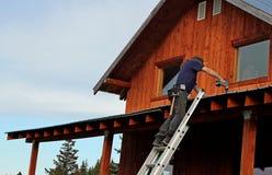 крыша ремонтов Стоковая Фотография