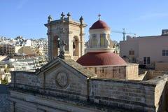 Крыша святилища нашей дамы Mellieha в Mellieha Стоковые Изображения