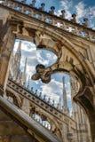 Крыша собора милана Стоковое Изображение