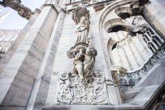 Крыша собора Duomo, милана Стоковое Изображение