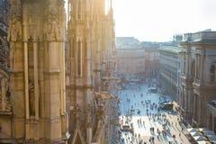 Крыша собора Duomo, милана, Италии Стоковое Фото