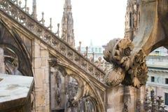 Крыша собора Duomo, милана, Италии Стоковое фото RF