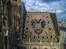Крыша собора ` s St Stephen, вены, Австрии Стоковое фото RF
