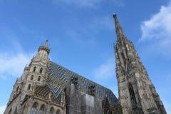 Крыша собора St Stephen's Стоковое Изображение