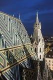 Крыша собора St Stephen в вене Стоковые Изображения