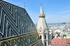 Крыша собора St Stephen в вене Стоковая Фотография RF