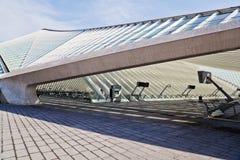 Крыша станции Guillemins архитектором Calatrava Стоковые Фото