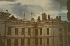 Крыша старого жилого дома Стоковая Фотография