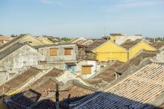 Крыша старого дома в Hoi старый городок Стоковое Изображение RF