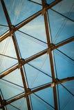 Крыша стекла диаманта и треугольника Стоковые Фотографии RF