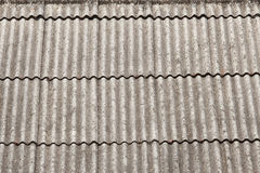 Крыша сделанная asbest Стоковое Фото