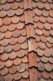 Крыша с старой плиткой стоковые изображения rf