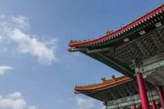 Крыша традиционного здания в Тайбэе Тайване Стоковые Фотографии RF