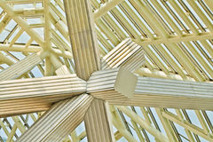 Крыша ферменной конструкции нержавеющей стали Стоковое Фото
